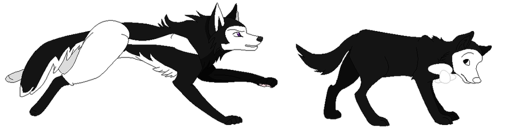 Boris and Bendy as wolves by Romel22445