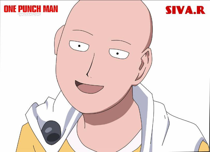 Dessin Termin One Punch Man Saitama Digital By Siva7 On Deviantart