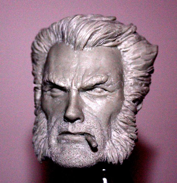 Wolverine head sculpt by sup3rs3d3d