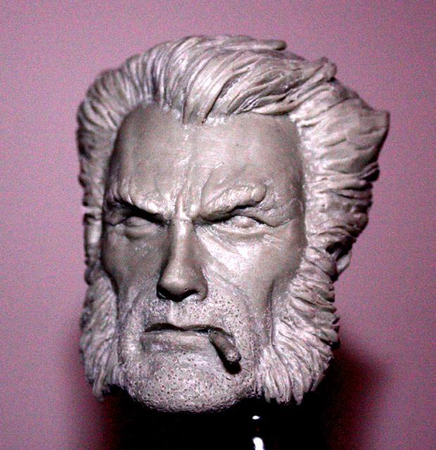 Wolverine head sculpt by sup3rs3d3d