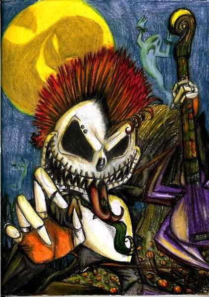 Punk rock Jack Skellington by Anarchpeace on deviantART