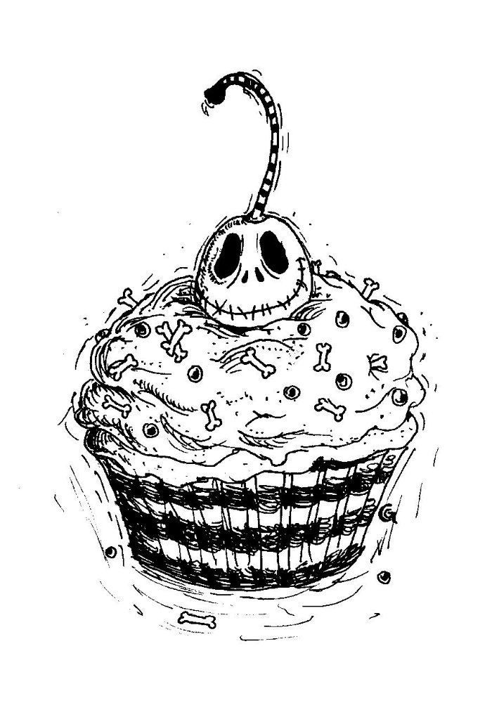 Jack skelling-cupcake design by Anarchpeace on deviantART