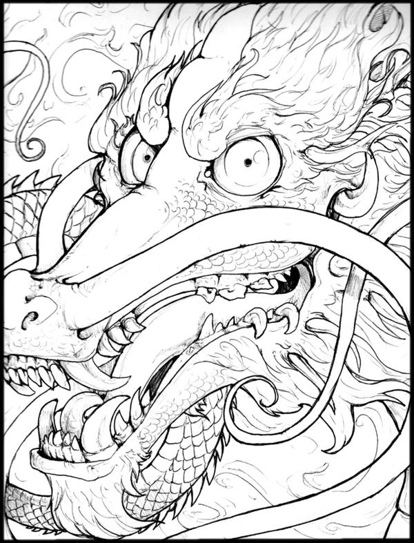 chinese dragon tattoo style by Anarchpeace on DeviantArt