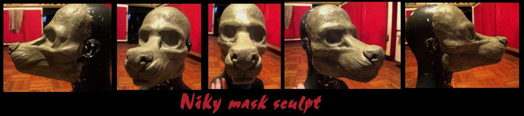 Niky mask sculpt by Anarchpeace