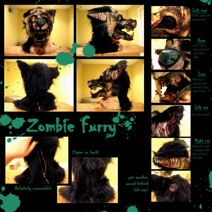 ZOMBIE FURRY MASK by Anarchpeace on DeviantArt