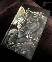 Werewolf sketchbook cover front by Anarchpeace