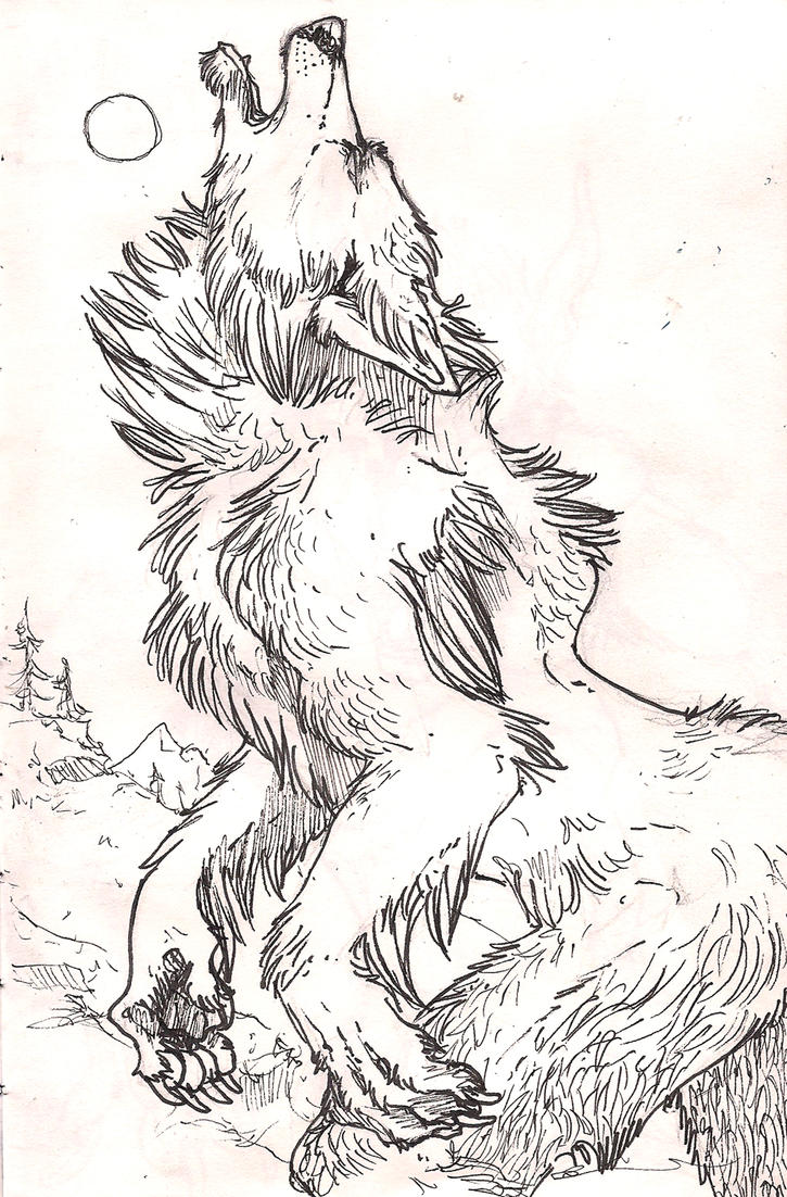 Scary werewolf drawings - photo#6