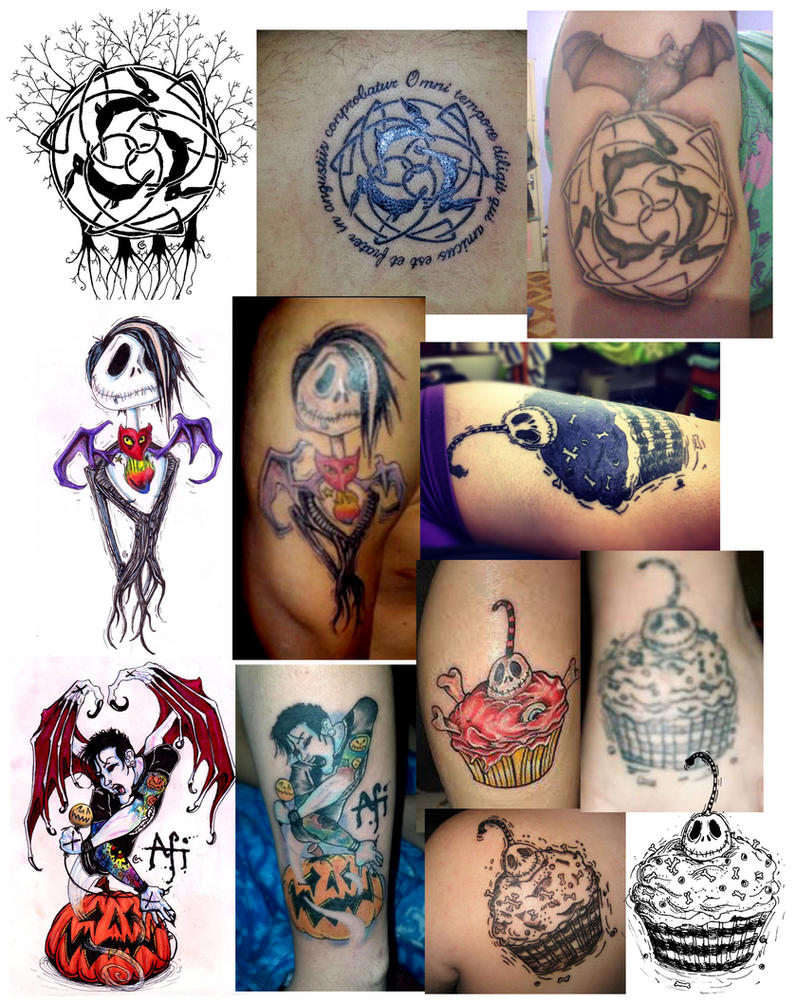 Tattoo compilation of my designs on others! by Anarchpeace