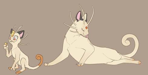 Meowth n persian attempt by umbbe