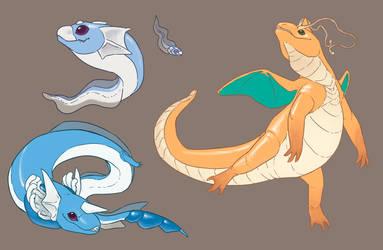 Dragonite n family by umbbe