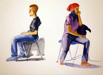 Watercolor study by Skulligan