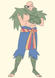 Sagat in Crayon Shin-chan style by Kornelius-Bandi