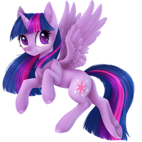 Twilight Sparkle Lineless | Commission by DoeKitty