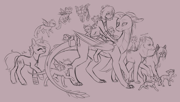 The Gang's All Here WiP by DoeKitty