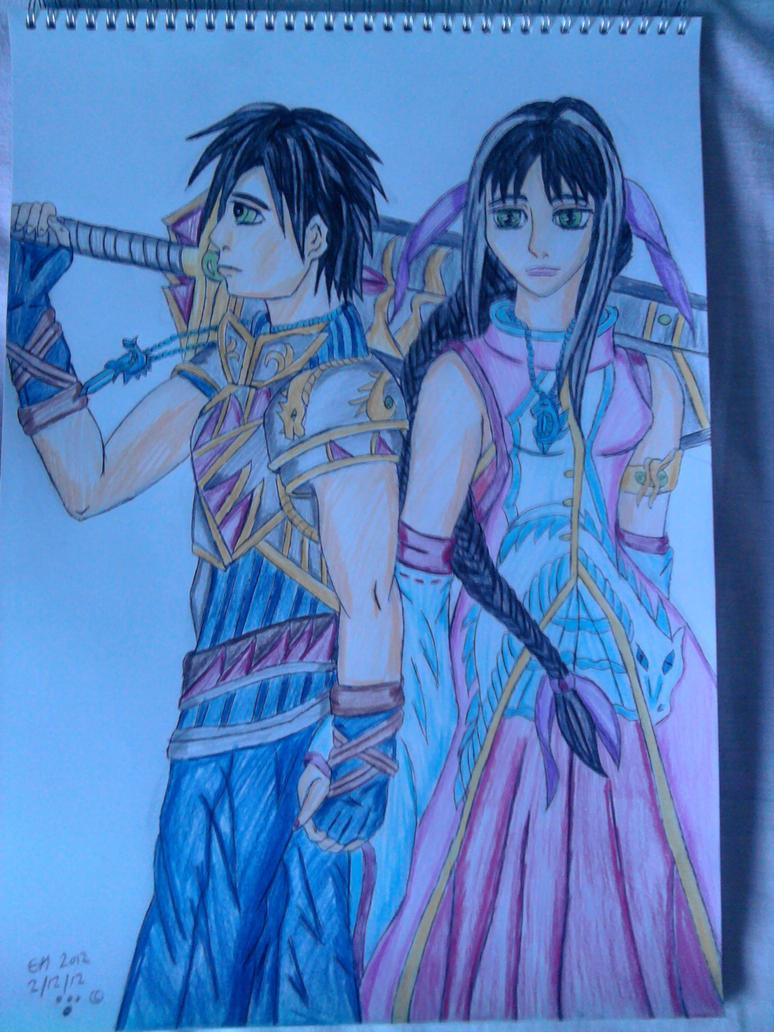 Prince Kai and Princess Kayla Air by Laineyfantasy