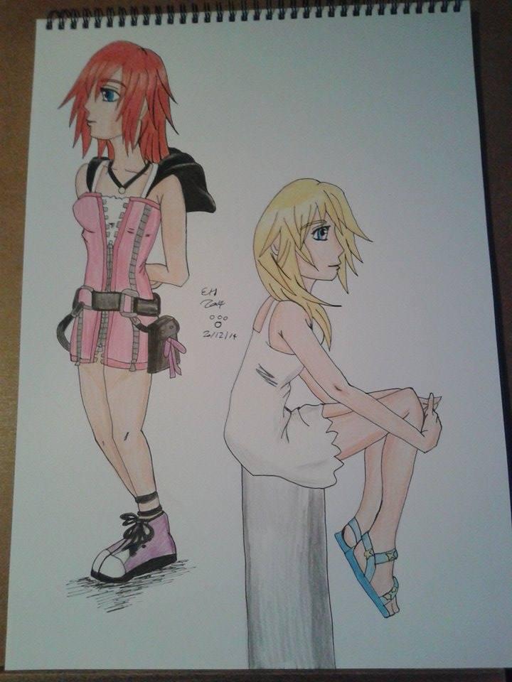 Kairi and Namine by lustyvampire