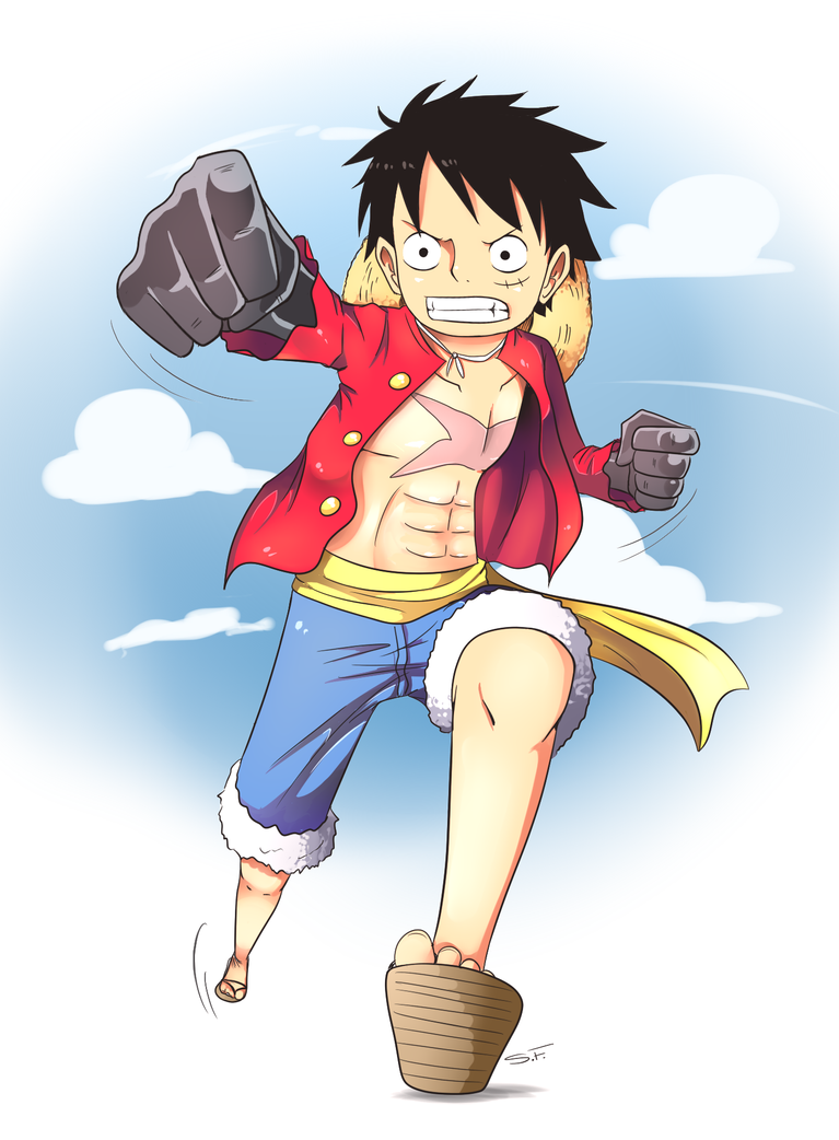 One Piece - Luffy (Haki Contest) by D-RogerHigh