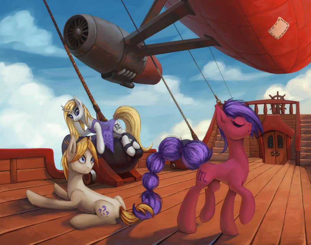 Airship pirates by Asimos
