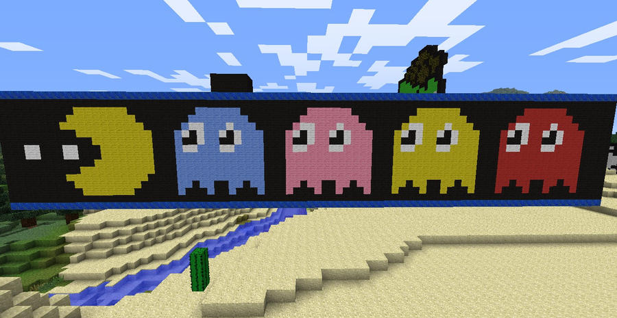 Minecraft Pac-Man And Ghosts By Kepppie On DeviantArt