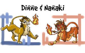 Nanaki and Dinne by AudreyCosmo13