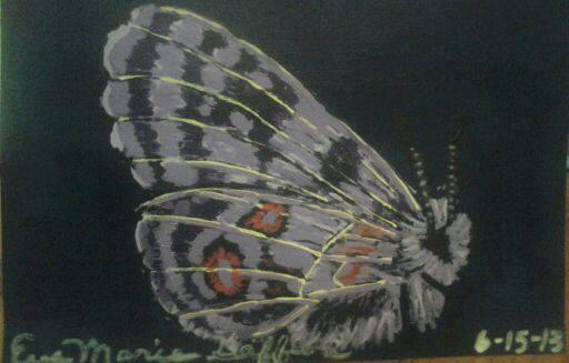 Flluffy Purple Butterfly by EveFrogMama
