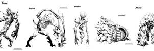 Mutant Zombie sketches- Set 1 by NRG