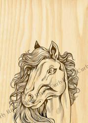 Burlwood horse 500