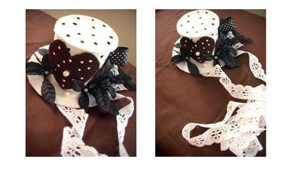 EGL Polka Dotted Top Hat by denimcraze