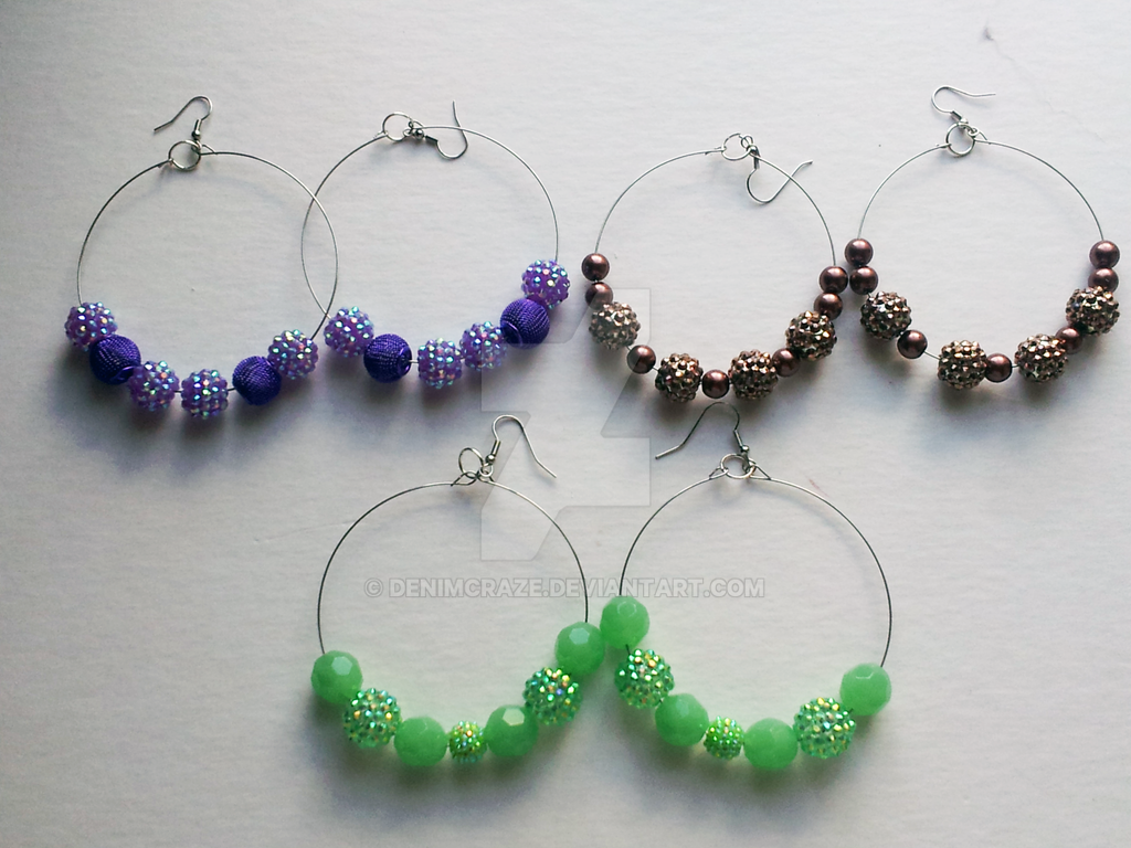 Multi Basketball Wives Earrings By Denimcraze
