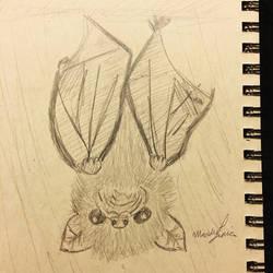 Tiny White Bat by maddieamie