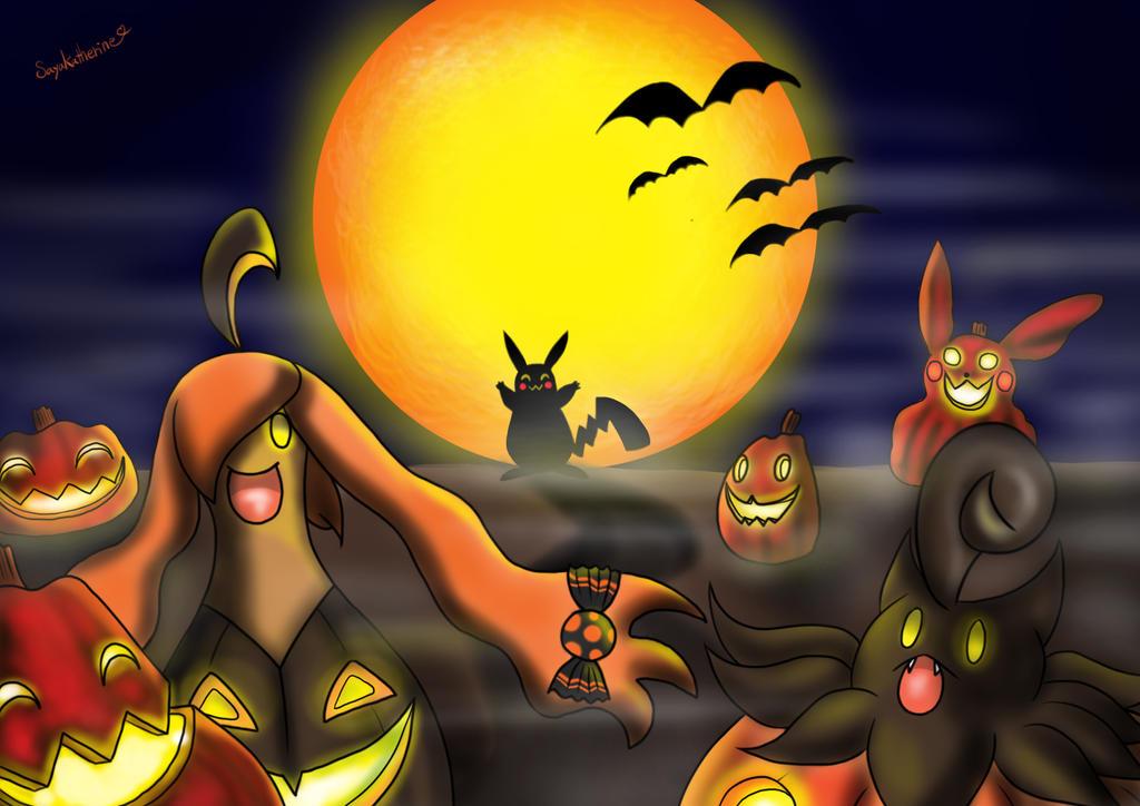 Pokemon Fan Art Halloween 486507574