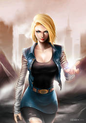 Android 18 by alex-malveda