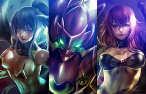 Akeno, Issei and Rias