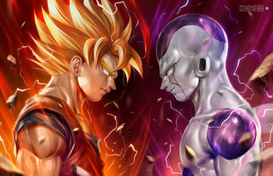 Son Goku vs Frieza by alex-malveda