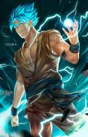 Goku Ssgod by alex-malveda