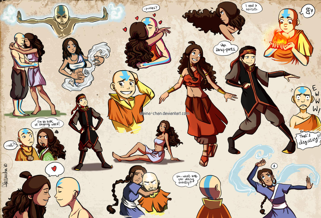 Aang and Katara collection by Aleccha