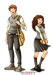 Prefect boy and girl