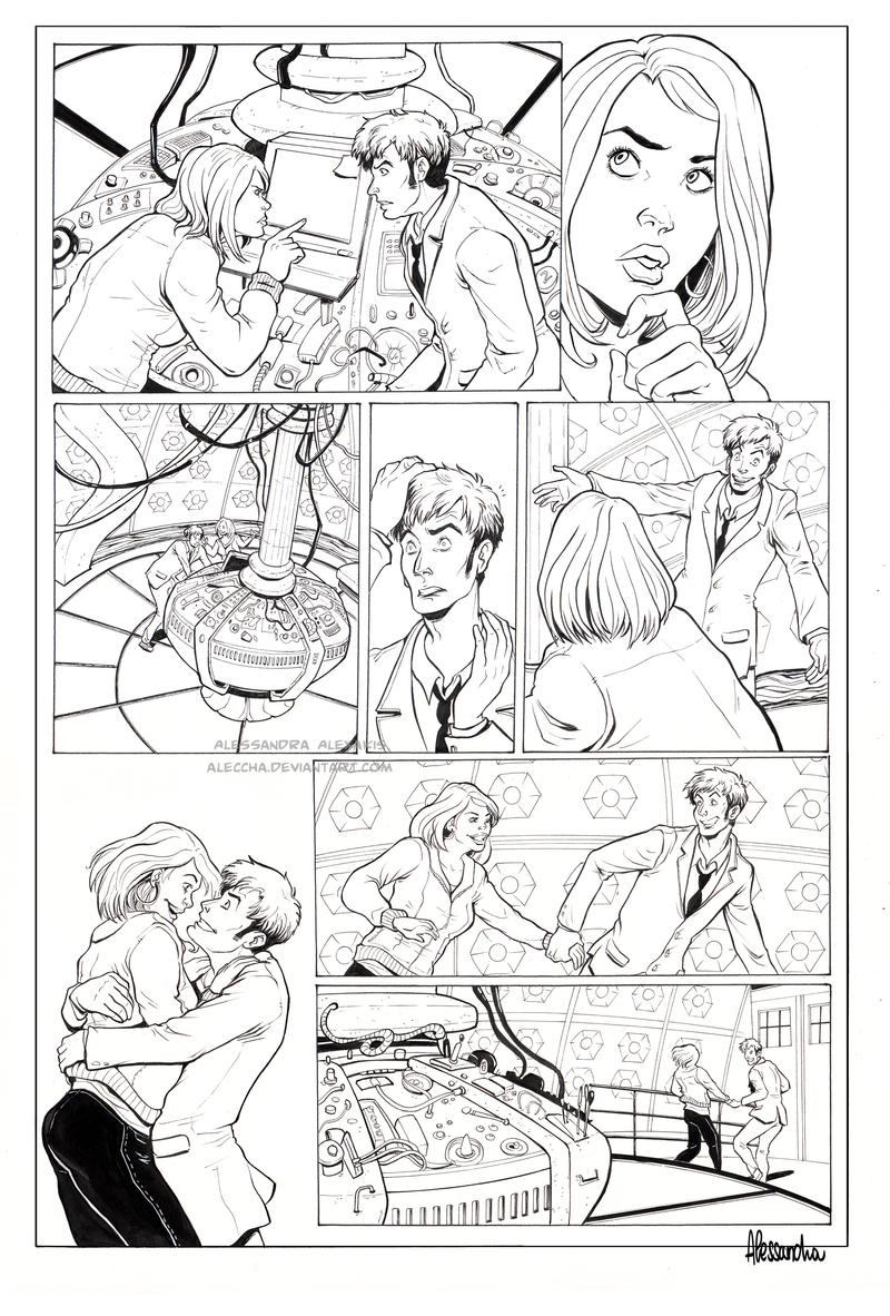 Doctor Who comic page by Aleccha