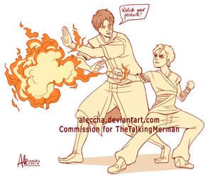 Commission - Zuko teaching