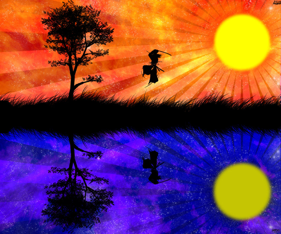 Landscape Design In A Day: Day And Night Vector Landscape By Aket-Designs On DeviantArt