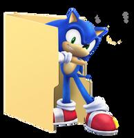 Sonic Folder Icon by Hinatka3991