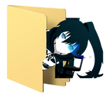 Black Rock Shooter Folder Icon [5] by Hinatka3991