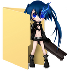 Black Rock Shooter Folder Icon [1] by Hinatka3991