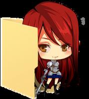 Erza Scarlet Folder Icon [Fairy Tail] by Hinatka3991