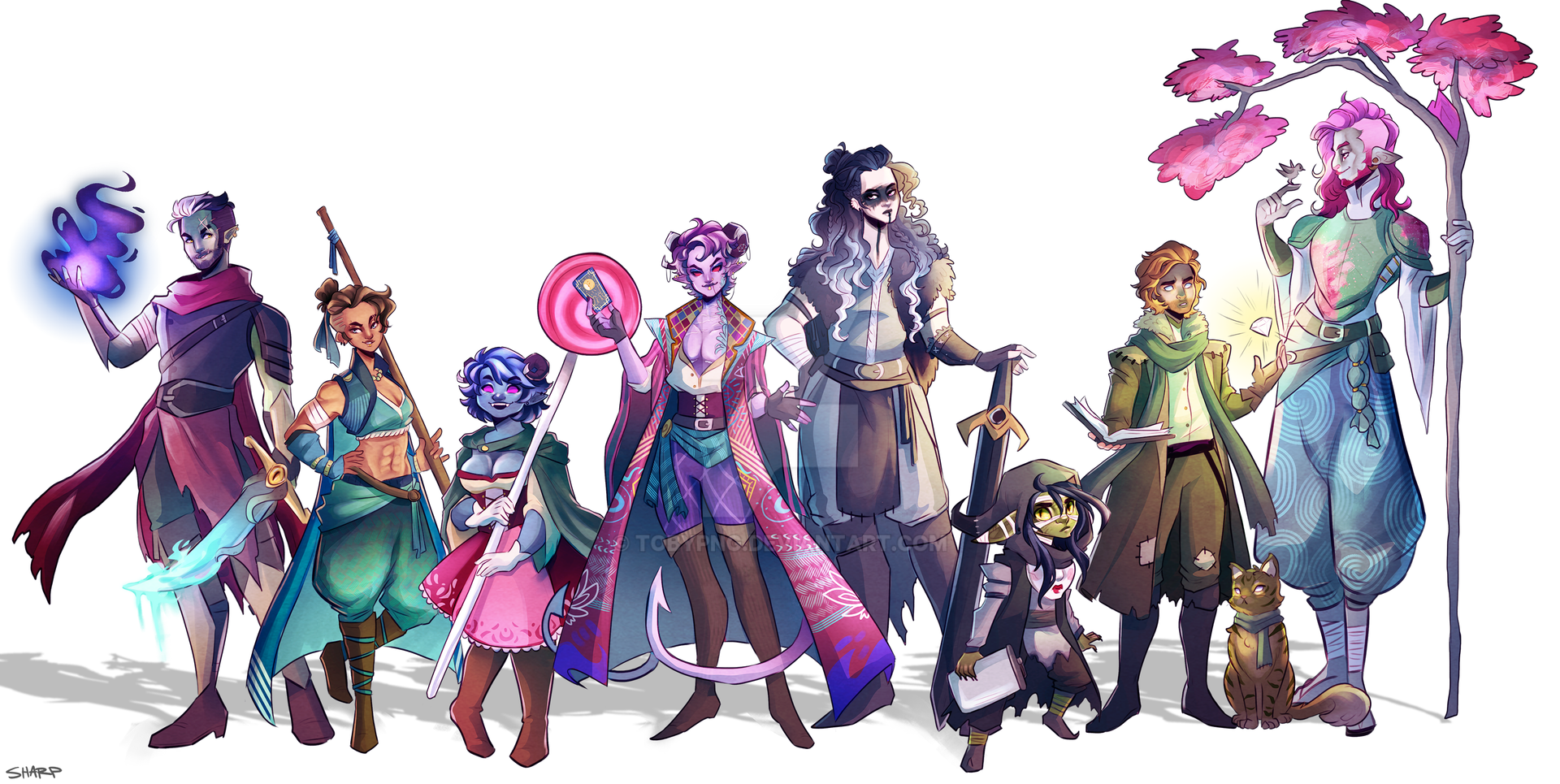 Mighty Nein Line up by tobypng on DeviantArt