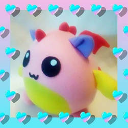 Kawaii bubble dragon