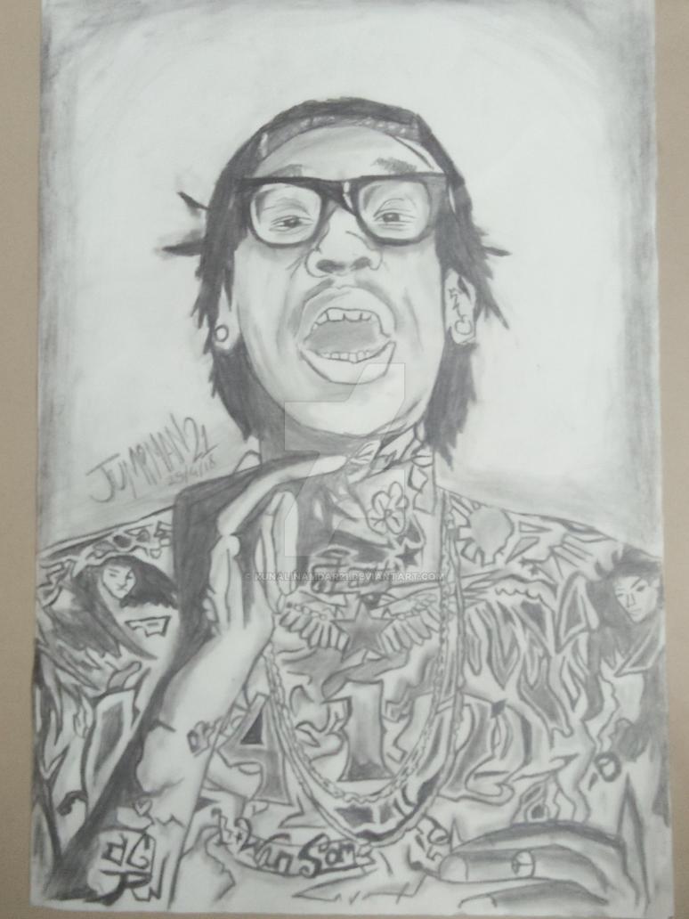 Wiz khalifa drawing by kunalinamdar21