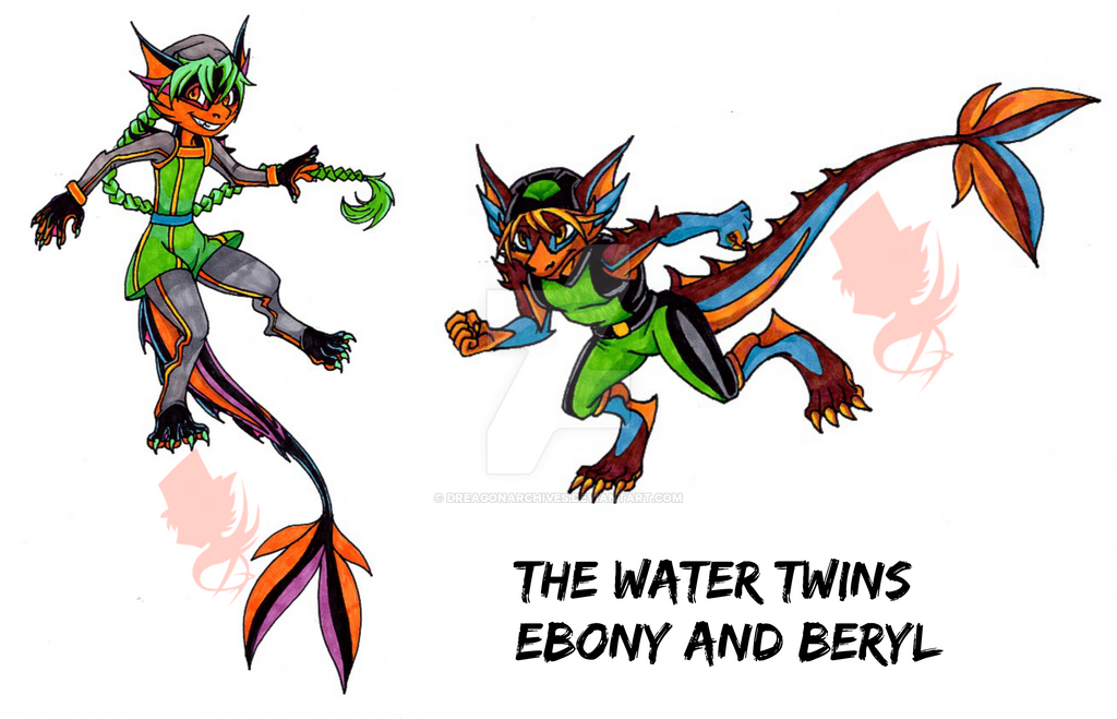 The Water Twins by DreagonArchives