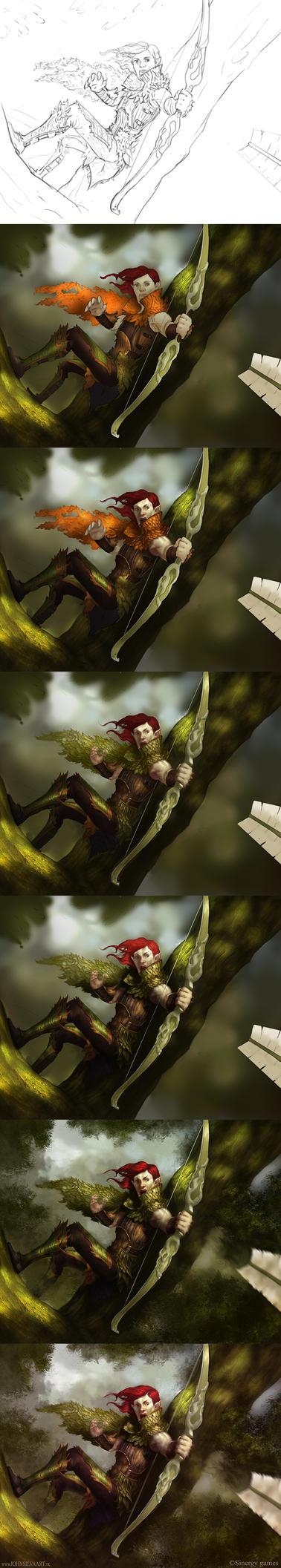 Elf Archer by JohnSilva