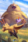 FFVII - Chocobo Summon. by JohnSilva
